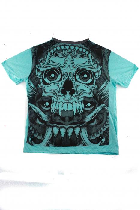 Tricou hippie - Blue Skull - marime L [0]
