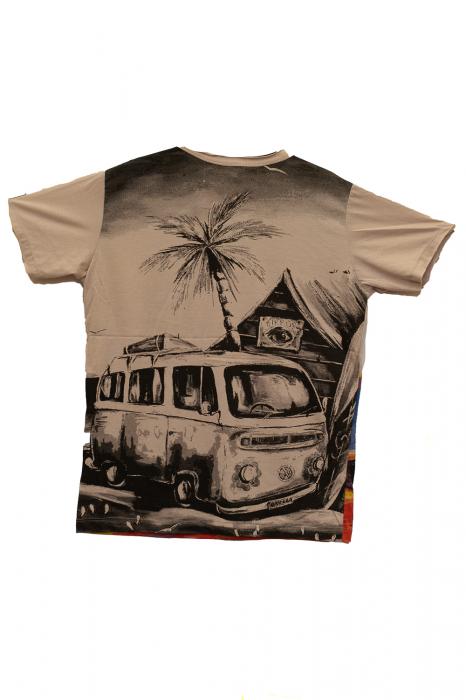 Tricou Hippie Volkswagen - Crem - Marimea L [1]
