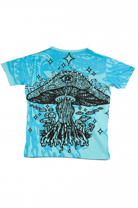 Tricou Mushroom - Albastru - Marime M [1]
