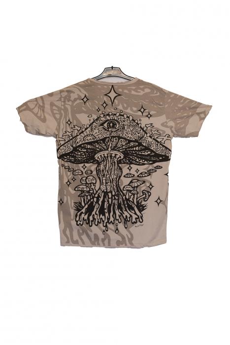 Tricou Melting Mushroom Gri - Marime M 1