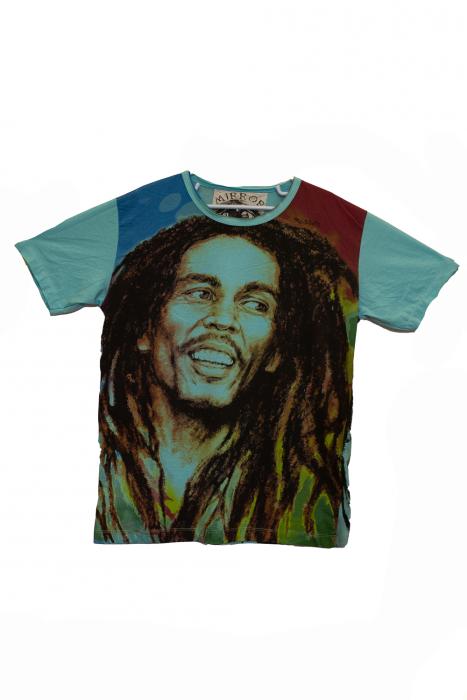 Tricou Bob Marley - Hope - Turcoaz - Marimea M [1]