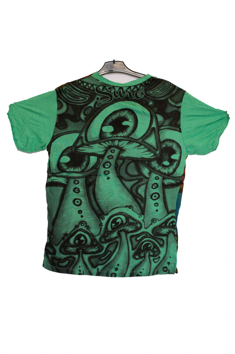 Tricou Mushrooms Trip green - marime M 1