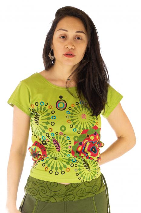 Tricou femei - Mandale verzi 0
