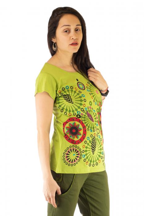 Tricou femei - Mandale verzi 1