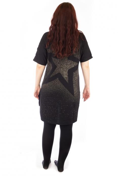 Tricou negru tip tunica cu o Bufnita 3