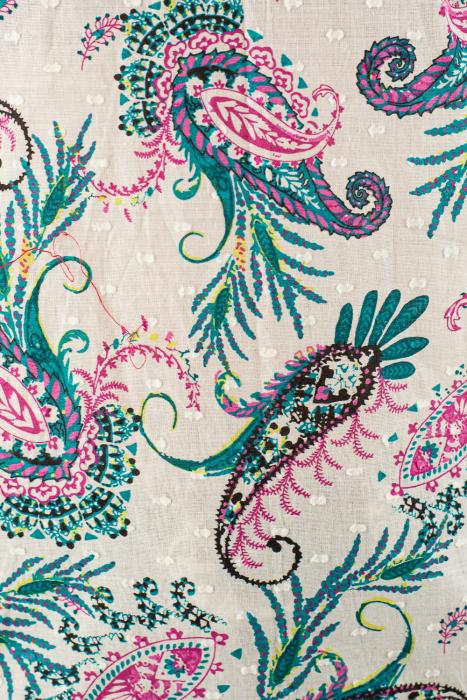 Tunica din bumbac colorat - Alb - Floral [4]