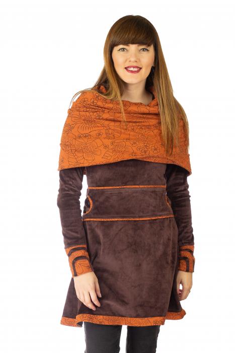 Tunica din catifea - Maro [0]