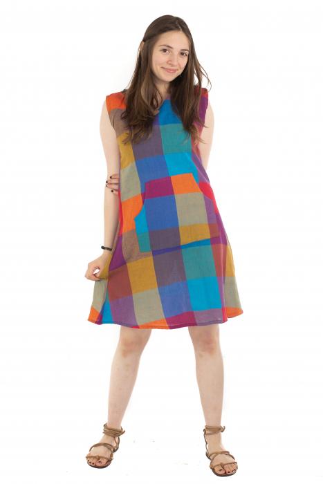 Tunica din bumbac fara maneci - Multicolora 1 [1]