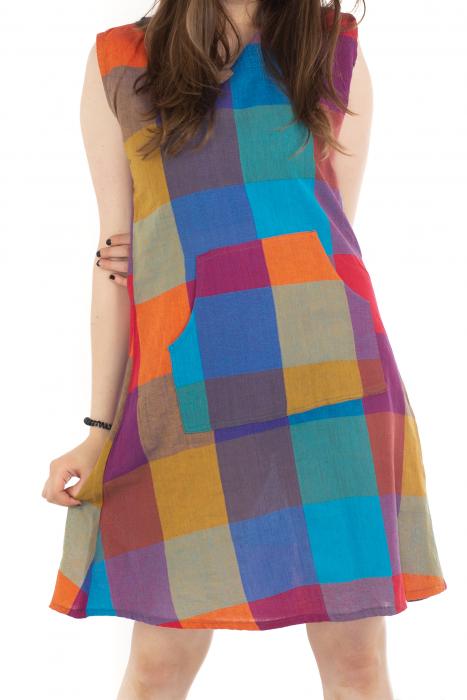 Tunica din bumbac fara maneci - Multicolora 1 [0]
