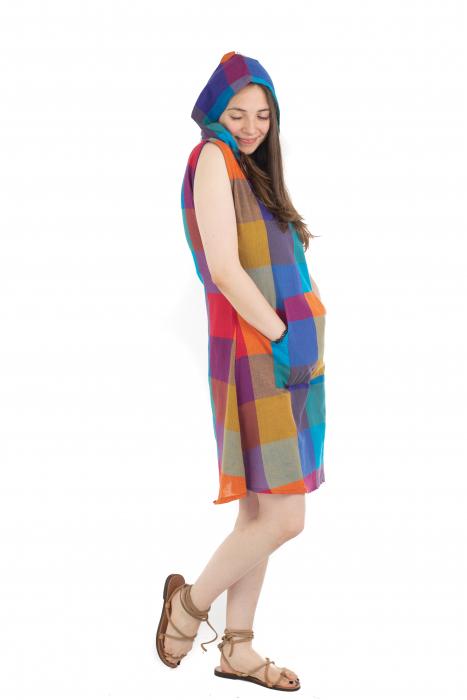 Tunica din bumbac fara maneci - Multicolora 1 [6]