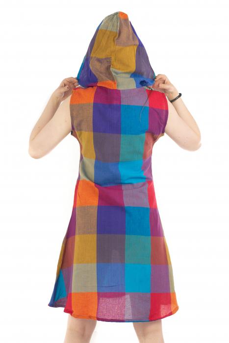 Tunica din bumbac fara maneci - Multicolora 1 [3]