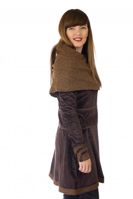 Tunica din catifea - Maro 2 4