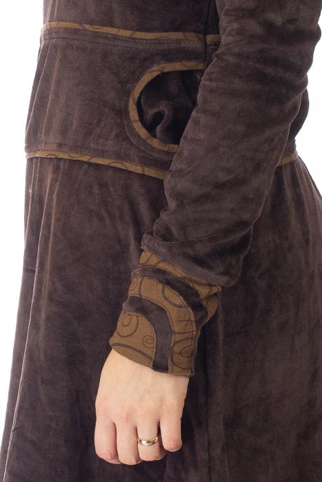 Tunica din catifea - Maro 2 3