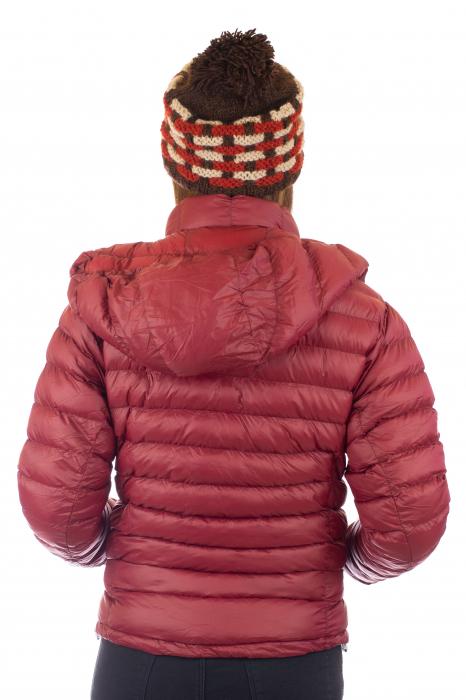 Jacheta scurta cu puf - Visiniu 4