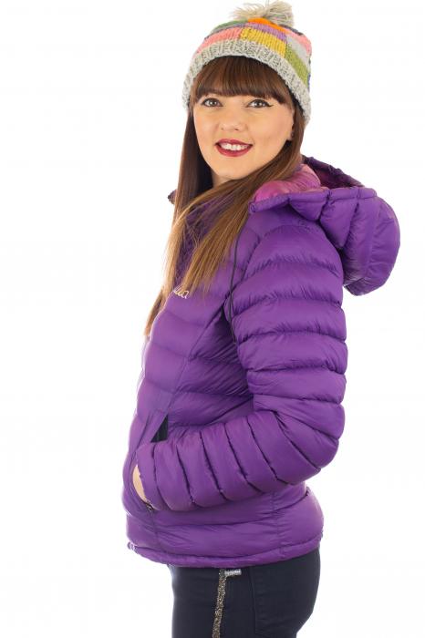 Jacheta scurta cu puf - Violet 1