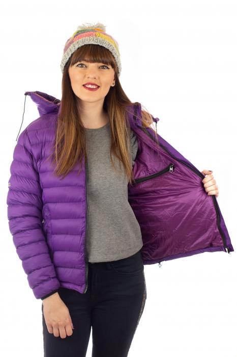Jacheta scurta cu puf - Violet 4