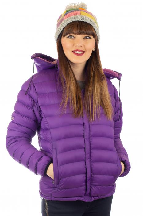 Jacheta scurta cu puf - Violet 0