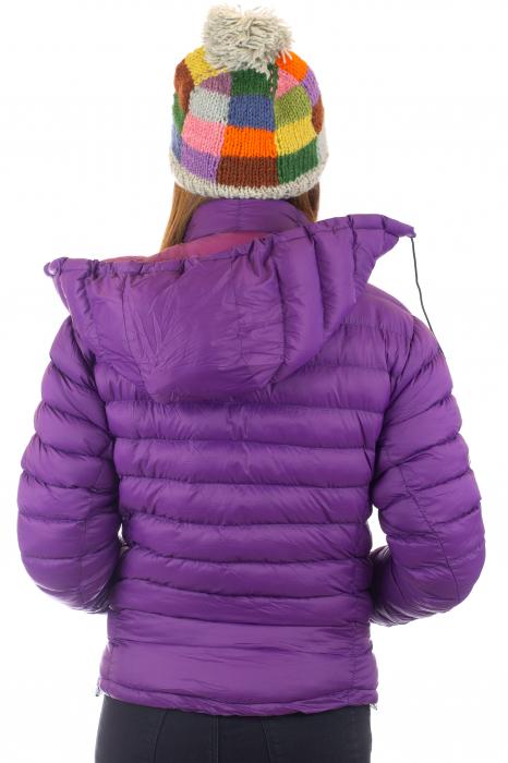 Jacheta scurta cu puf - Violet 3