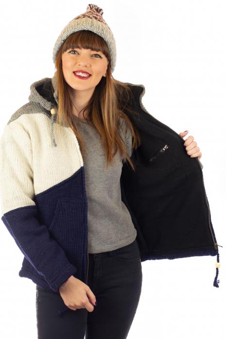 Jacheta de lana - Zig Zag 4