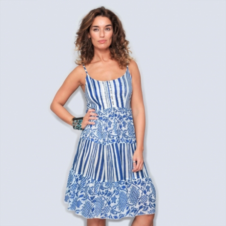 Rochie din bumbac - BLUE MARINE0