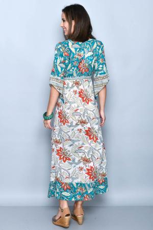 Rochie lunga multicolora - 08.DR-12221