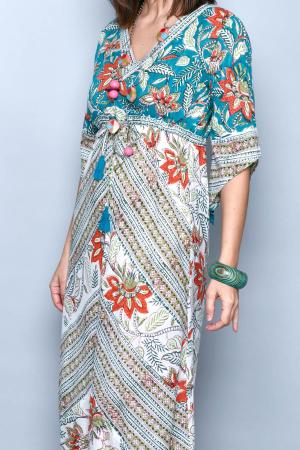 Rochie lunga multicolora - 08.DR-12223