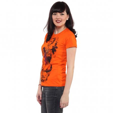 Tricou portocaliu de dama - DACIA [1]