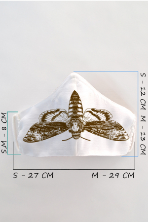 Masca bumbac cu filtru pentru copii - Fluture1