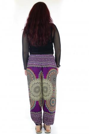 Pantaloni Jasmine cu print oriental - Model 13