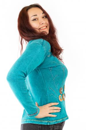 Bluza femei OM cu modele cusute N-011