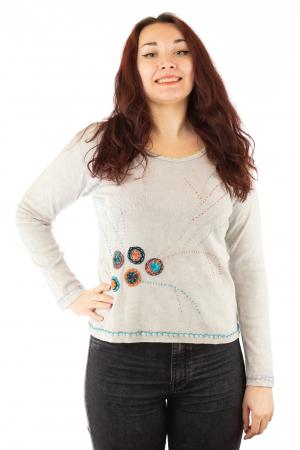 Bluza femei din bumbac cu model OM N-020