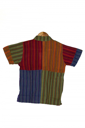 Camasa din bumbac de copii, Bufnita marimea XL - maneca scurta unicata M12