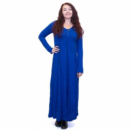 Rochie lunga albastra0