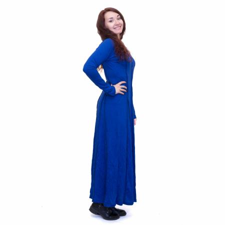 Rochie lunga albastra1