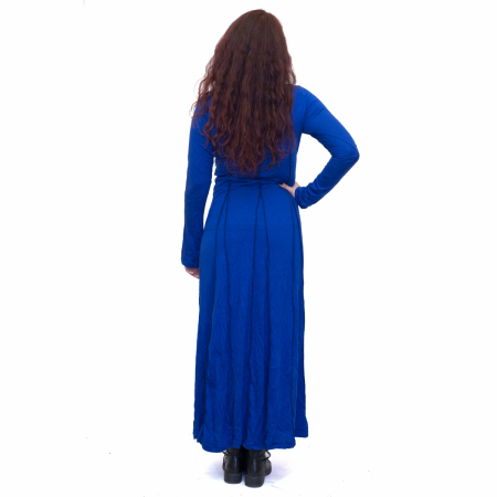 Rochie lunga albastra2