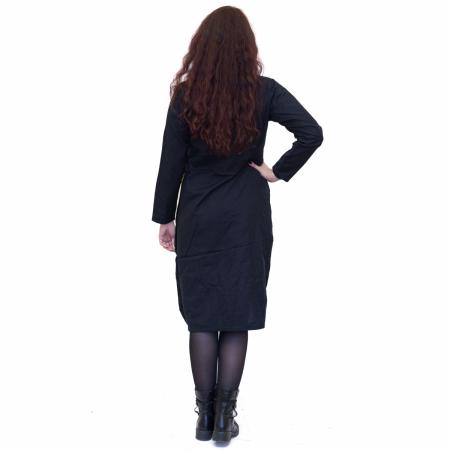 Rochie neagra cu patrat verde2