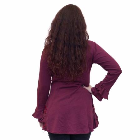 Bluza burgundy cu guler2
