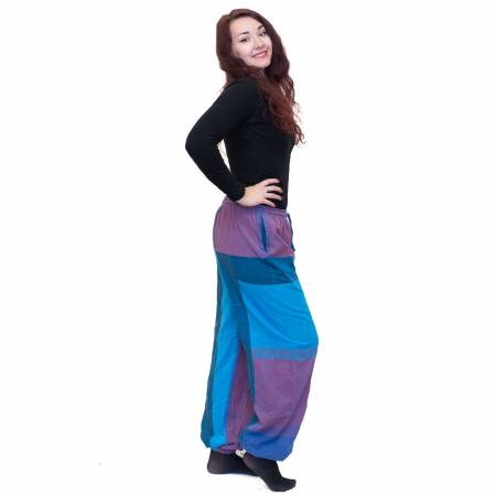 Pantaloni albastru cu mov1