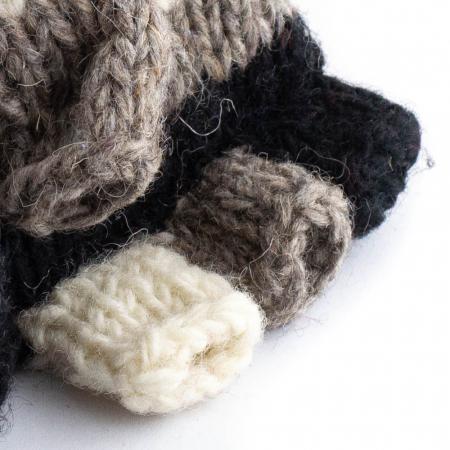 Manusi de lana fingerless - Dark tones1