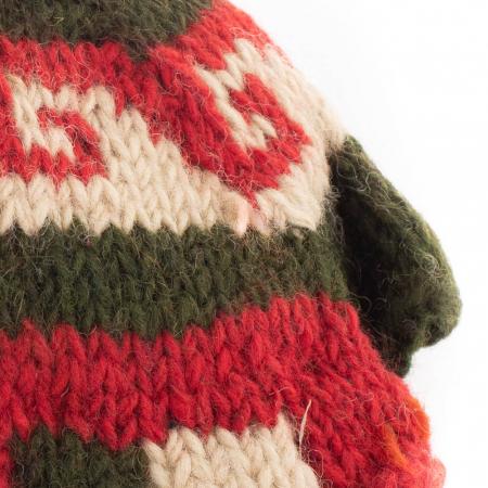 Manusi de lana fingerless - X-MAS TREE1