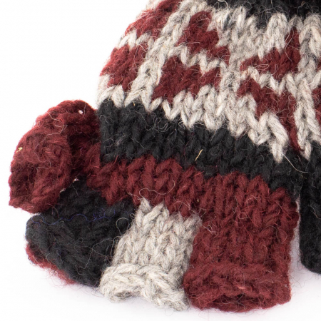 Manusi de lana fingerless copii - Color combo 162
