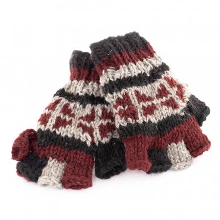 Manusi de lana fingerless copii - Color combo 161
