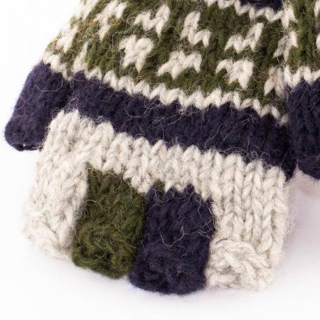 Manusi de lana fingerless - Earthy colors1