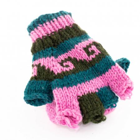 Manusi de lana fingerless - Color combo 190