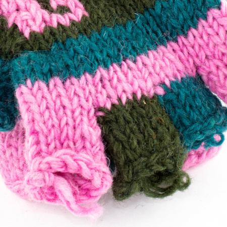 Manusi de lana fingerless - Color combo 191