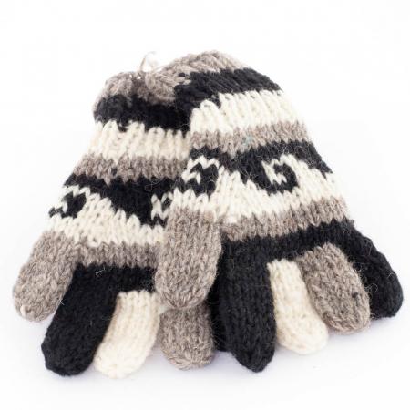 Manusi de lana - Dark tones0