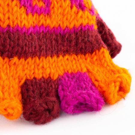 Manusi de lana fingerless - Hint of Magenta1
