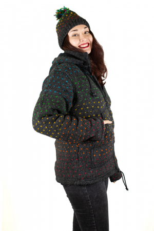 Jacheta de Lana - Rainbow Dots1