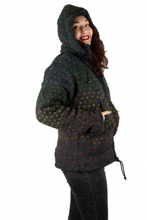 Jacheta de Lana - Rainbow Dots4