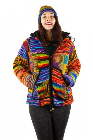 Jacheta de lana - Color Bits0